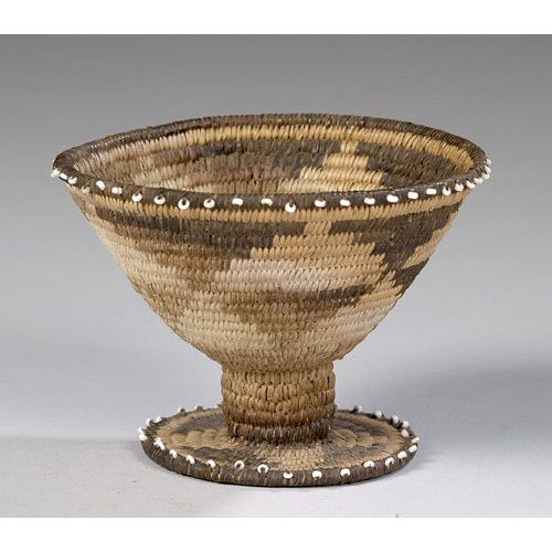 Basket Weaving Edging : Best native american baskets with trade beads images on