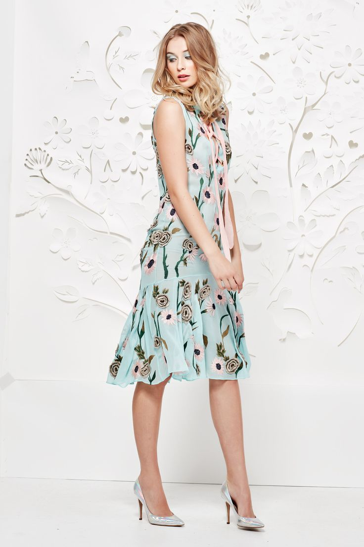 Trelise Cooper Summer16 TC51422-47 Fabric Name & Composition Field Of Blooms-100% Viscose With Embroidery