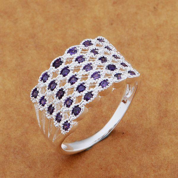 シルバー リング ファッション jewerly リング女性&男性ニット/紫石/ auxajmea chdakyka ar552
