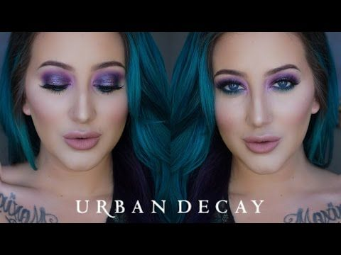 How To   Halo Smoky Eye   Urban Decay Moondust Palette - YouTube