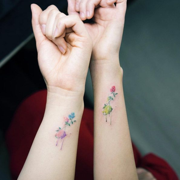 Best Friend Tattoos For Women: 40+ Cute And Tiny Floral Tattoos For Women