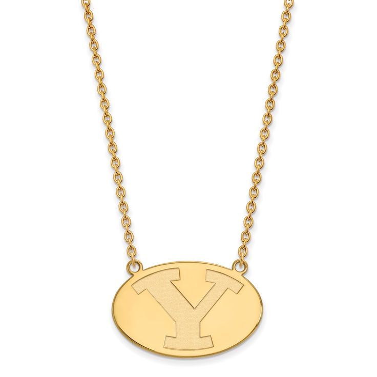 10ky LogoArt Brigham Young University Pendant with Necklace