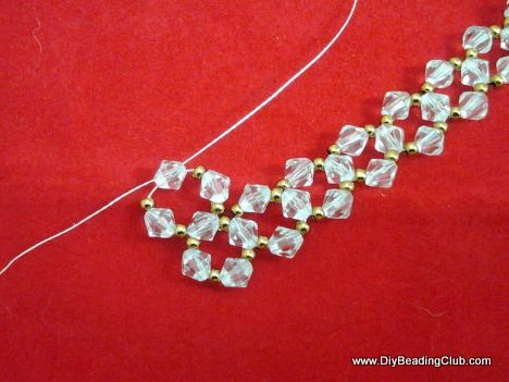 Crystal Coral Necklace Beading Tutorial - FREE steps at the blog