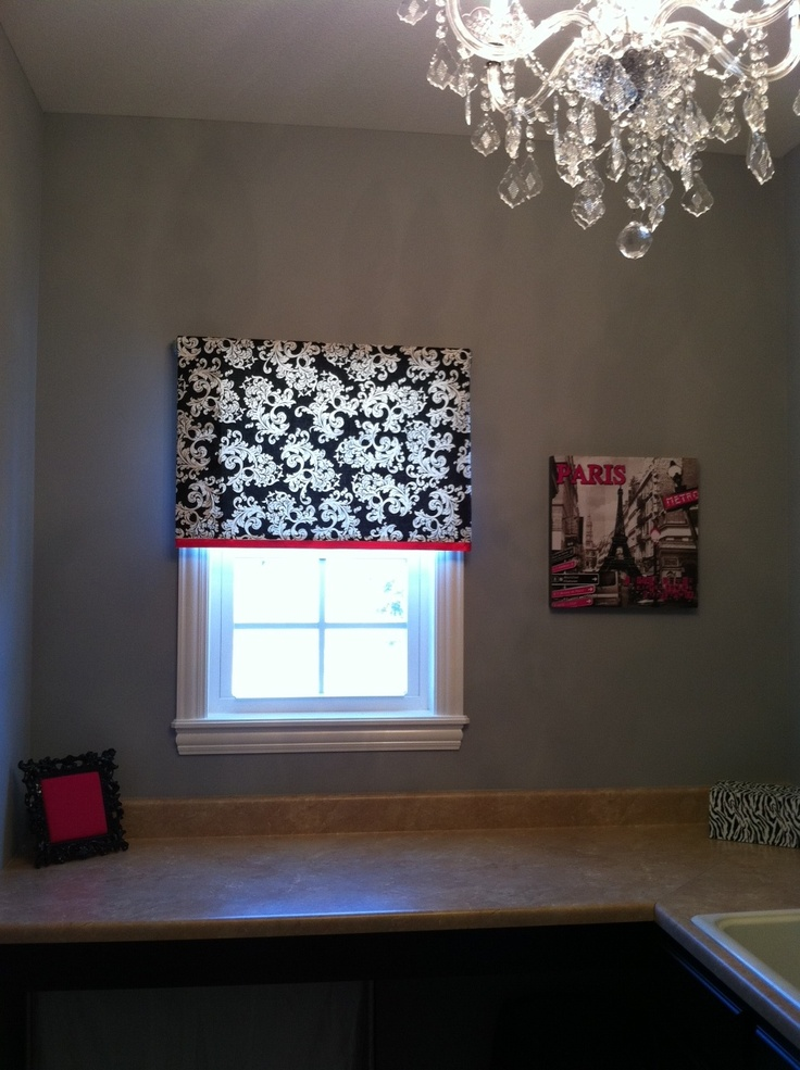 Cheap and Easy Window Treatment - fabric covered roller shade