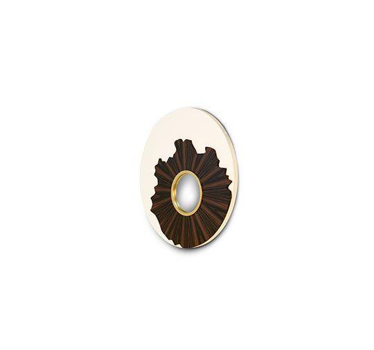 IRIS | Round Mirror Modern Design By BRABBU