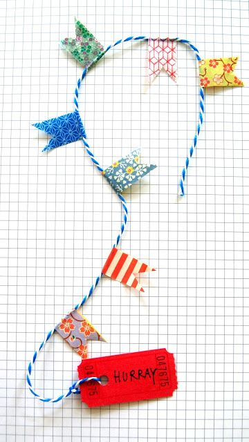Send a hurray garland in an envelope. Made by ingthings.