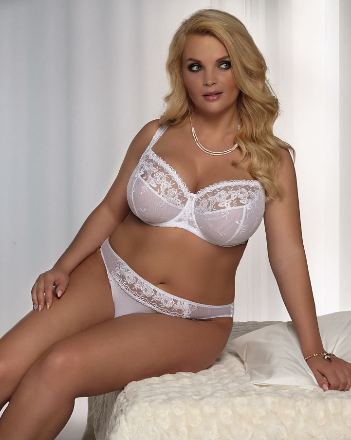 plus size bra briefs in white from kris line curvy and. Black Bedroom Furniture Sets. Home Design Ideas