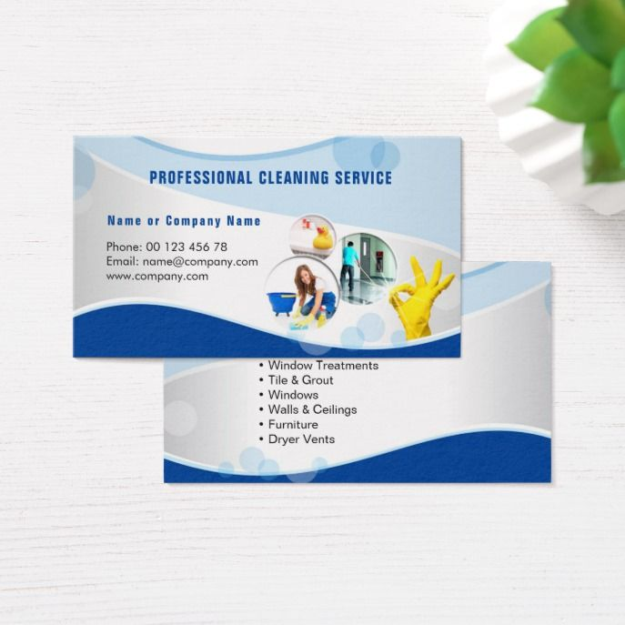Professional Cleaning Service Business Card Zazzle Com Professional Cleaning Services Services Business Professional Cleaning