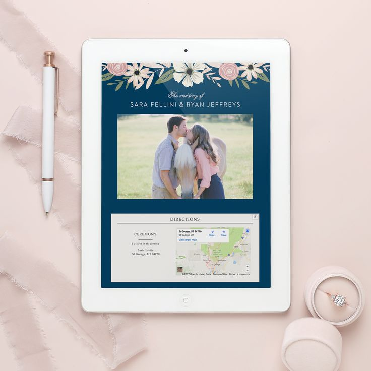 Reason #2 for a wedding website: they offer an easy way to RSVP. #sponsored #wedding