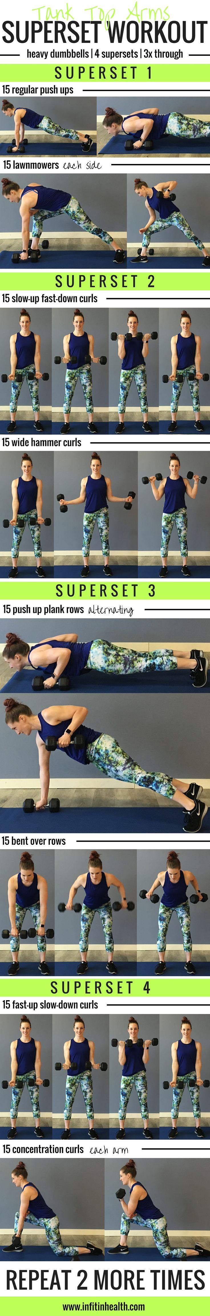 Tank Top Arms Superset Workout