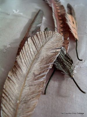 DIY Paper Ephemera Feathers #aleenesrocks @ILoveto Create ~ * THE COUNTRY CHIC COTTAGE (DIY, Home Decor, Crafts, Farmhouse)