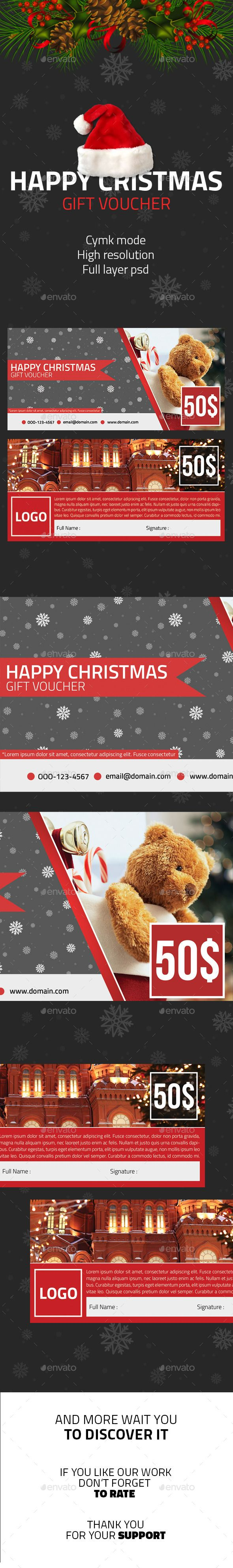 Happy Christmas Voucher Gift