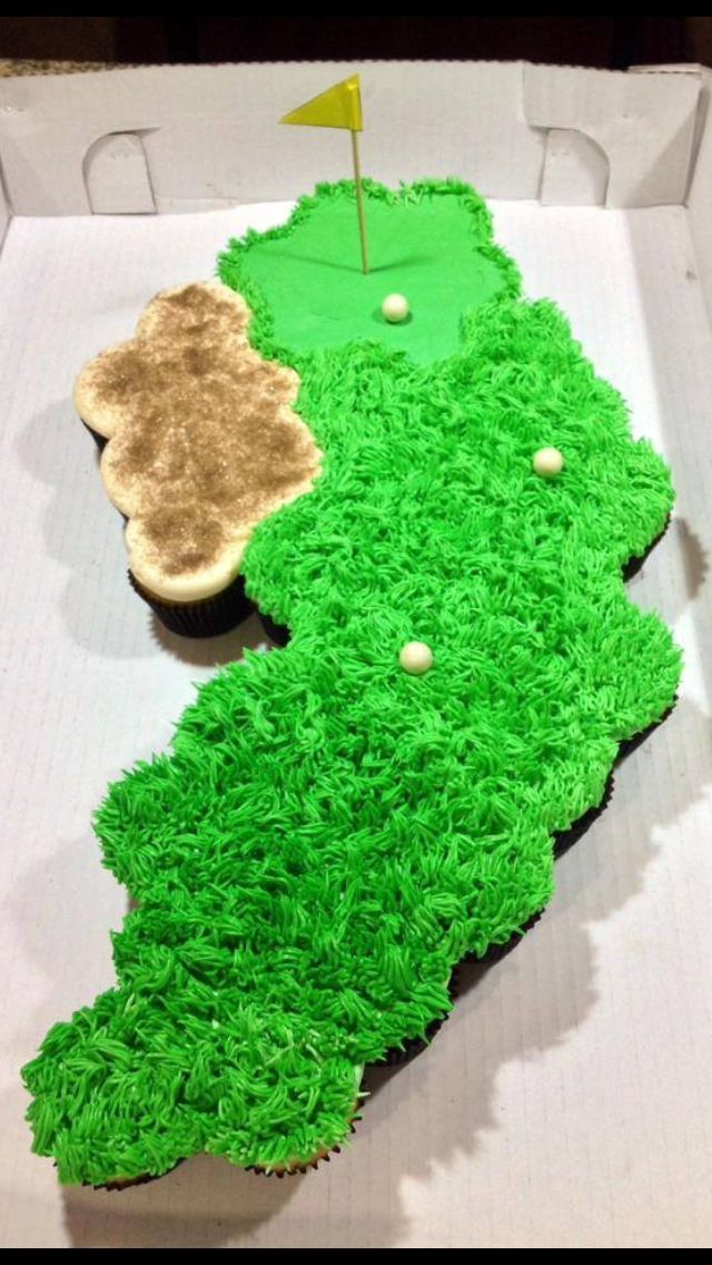 Golf course pull apart cupcakes.