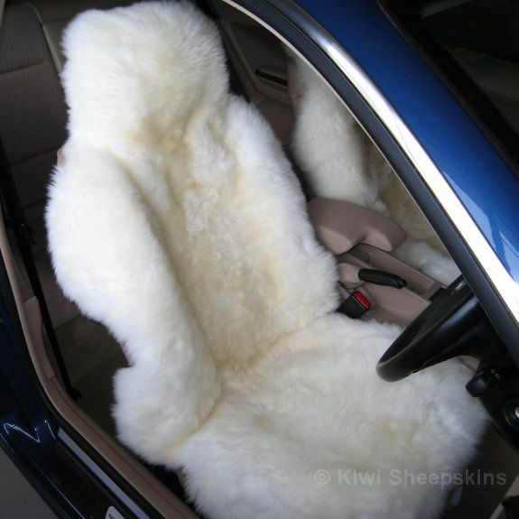 Sheepskin Car Seat Cover. Prone to impulse buys? You never know when you might see something that makes you think 'I NEED THAT!'