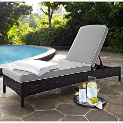Belton Chaise Lounge with Cushion Fabric: Grey - http://delanico.com/chaise-lounges/belton-chaise-lounge-with-cushion-fabric-grey-725539641/
