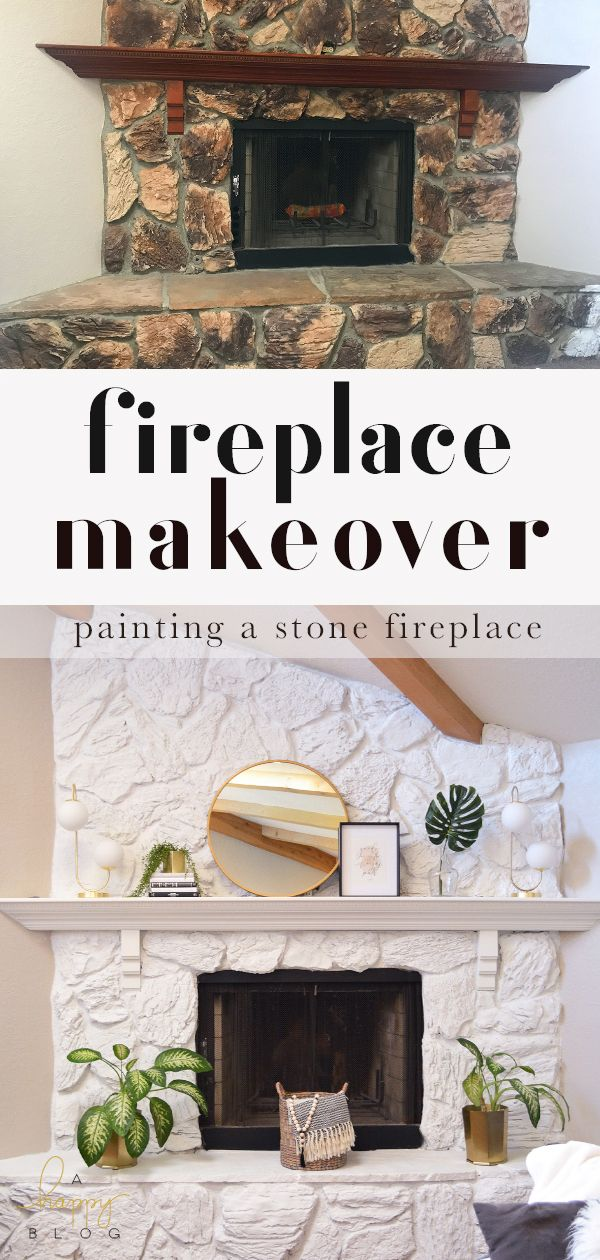 Stone Fireplace Transformation With Jolie Paint Diy Stone