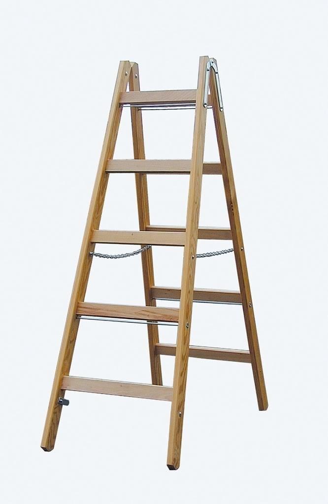 Holzsprossen-Doppelleiter 57€ für Draussen-Spielküche