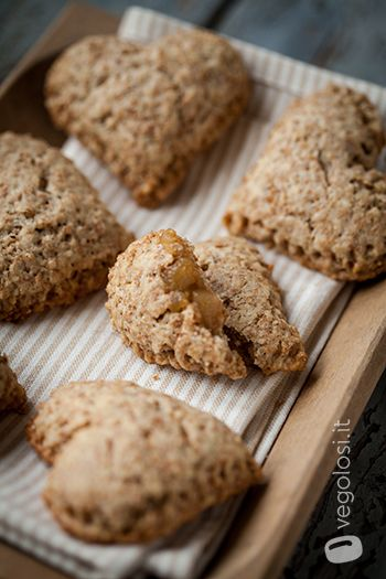 Biscotti vegani alle mele (Cuor di mela!)