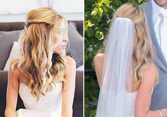 interesting idea of how to pull hair back - Kristin Cavallari wedding