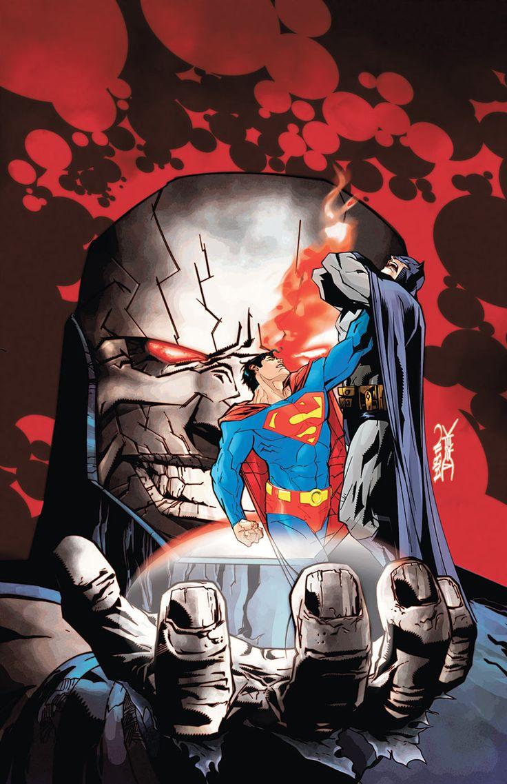 Darkseid, Superman and Batman