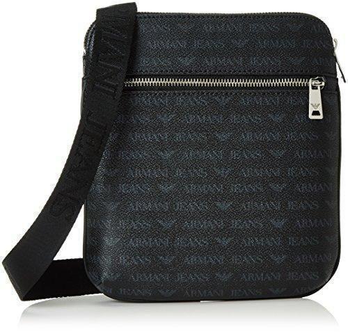 Oferta: 98€. Comprar Ofertas de Armani Jeans 932534CC996 - Bolso al hombro de Material Sintético para hombre Negro Schwarz (NERO 00020) 23x4x22 cm (B x H x T barato. ¡Mira las ofertas!