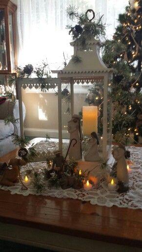 My willow tree nativity..perfect in my lantern!