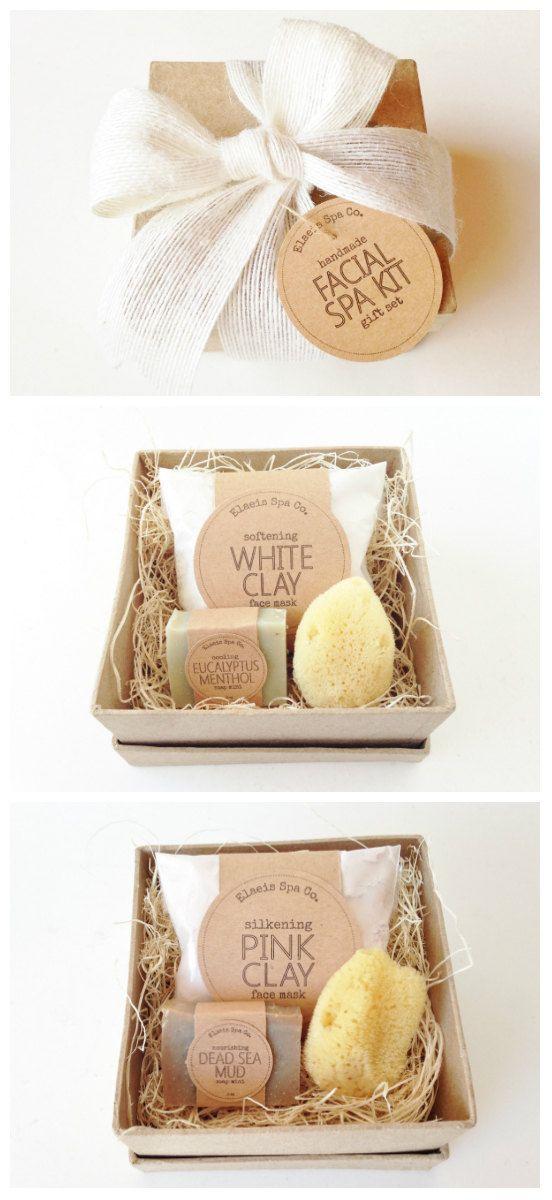 Facial Spa Kit Gift Set 4x4x2 Box 1.2 oz Face Mask by elaeis