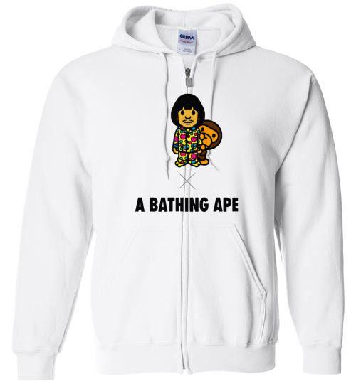 5753363273f Amazing Bape A Bathing Ape x Symbol Movie Goods Unisex zip hoodie ...
