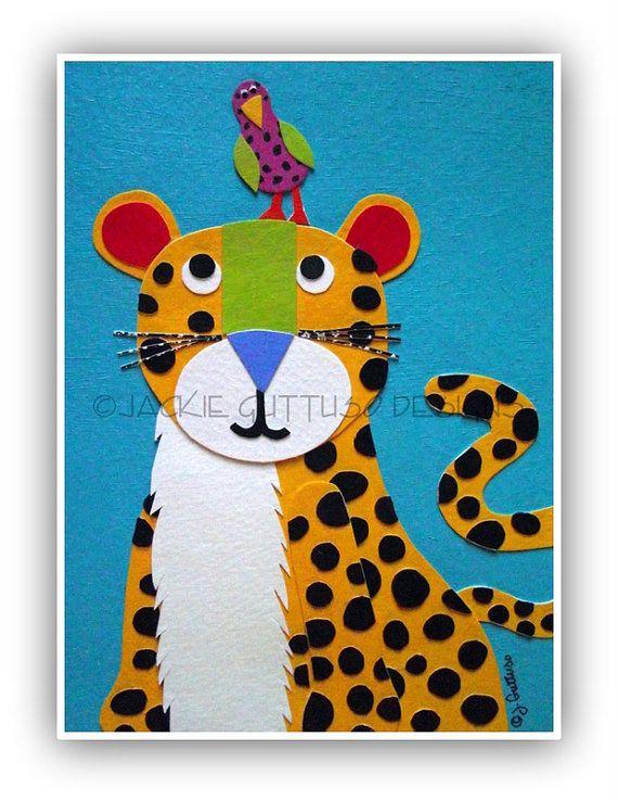 Cheetah Kids Art Jungle Nursery By Jackieguttusodesigns 30 00