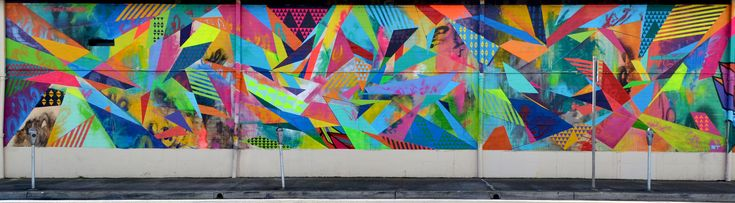 Amazing colors and composition --> Hawaii Mural by Poesia #murals #graffuturism #graffiti #art