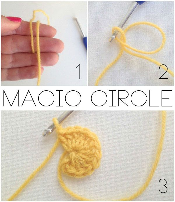 Magic circle crochet stitch, sew, quilt, hook, knit Pinterest