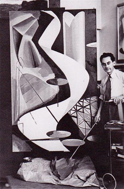 Man Ray in his studio. Paris c. 1939