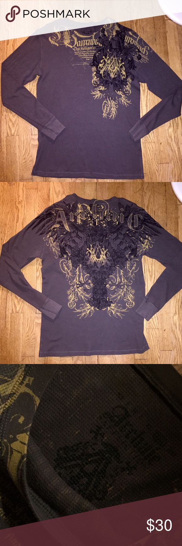 Men's Affliction L/S Shirt Mens Affliction (Archaic) Long Sleeved Designer Shirt from the Buckle store. In size Large. In excellent condition 😍 Affliction Shirts Tees - Long Sleeve