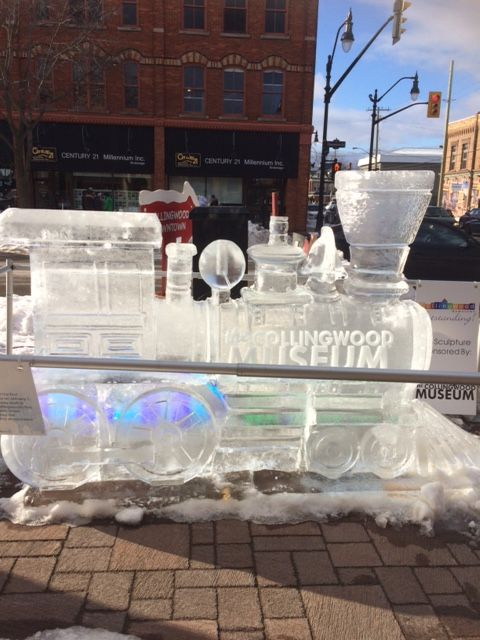 Frozen In Time ice sculpture. Collingwood, ON,