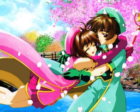 Sakura & Shaoran  sakura car captor ese fue mi segudo anime se los recomiendo☺☺