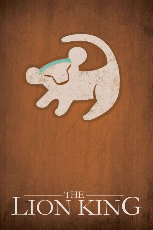 The Lion King (1994) ~ Minimal Movie Poster by Jacquelyn Halpern #amusementphile