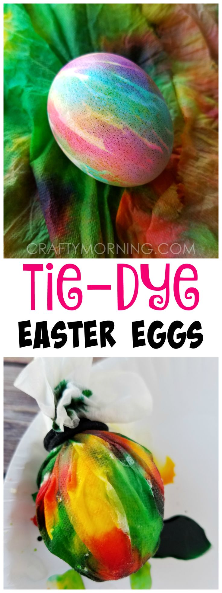 Make tie-dye easter eggs! This is so fun and easy for kids to make!