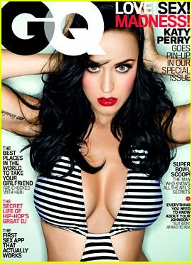 "Katy Perry Show her cleavage in covers of ""GQ"" .She wear super sexy and Revealing Swimsuit"