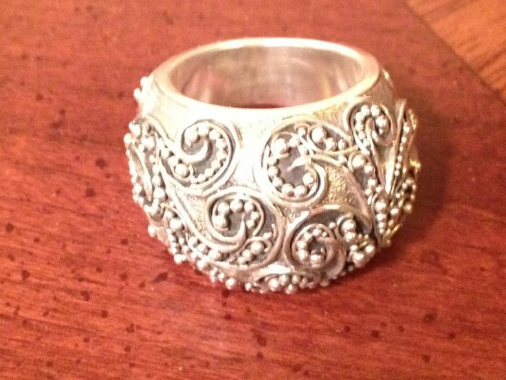 LOIS HILL Sterling Silver Granulated Filigree Ladies Ring