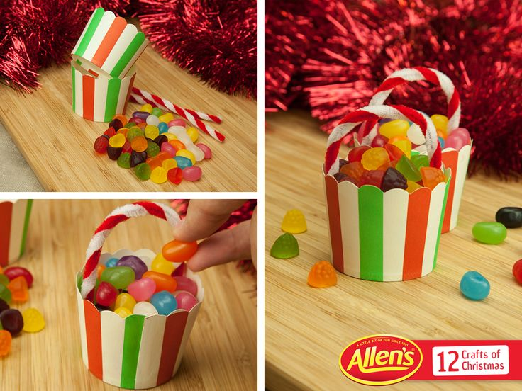 These mixed ALLEN'S Lollies 'baskets' are an easy little craft for the family to make. Share them this Christmas with the ones you love!