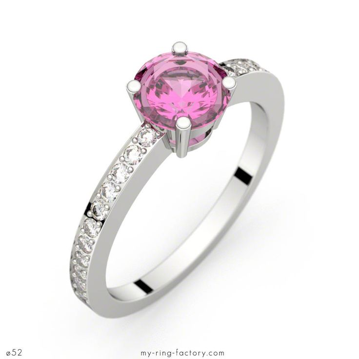 Bague saphir rose 0,98 ct or blanc DAPHNE PAVAGE - My-ring-factory