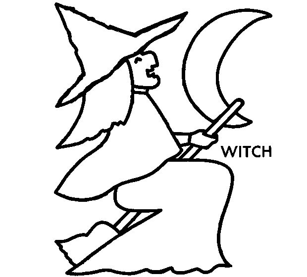 Color Halloween Witch Pictures Online