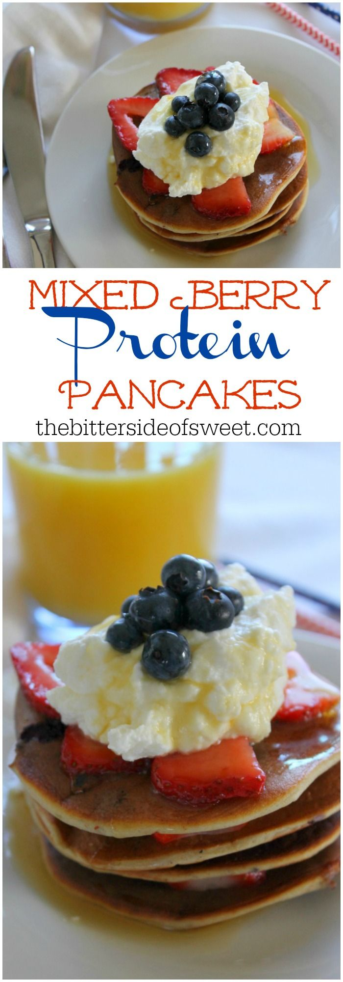 Mixed Berry Protein Pancakes Image