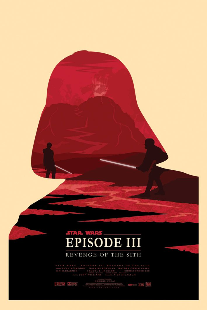 Star Wars Episode III minimalist movie poster