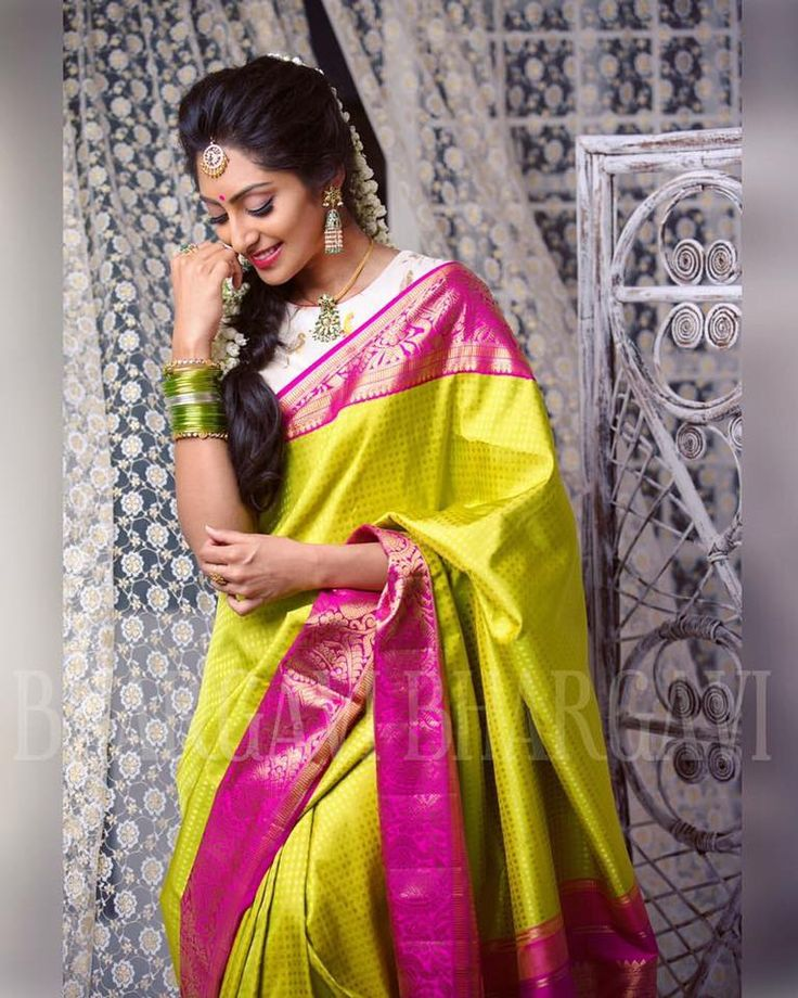 Sravana Sukravaramud83dudc9a Shop from our latest collection of Kanjeevaram sarees and duppattqas . @krithikababu in a gorgeous kanjeevaram saree Photographed by @lenskumar Hair Makeup by @edwardmakeupartist @siromakeupstudio . 12 August 2016