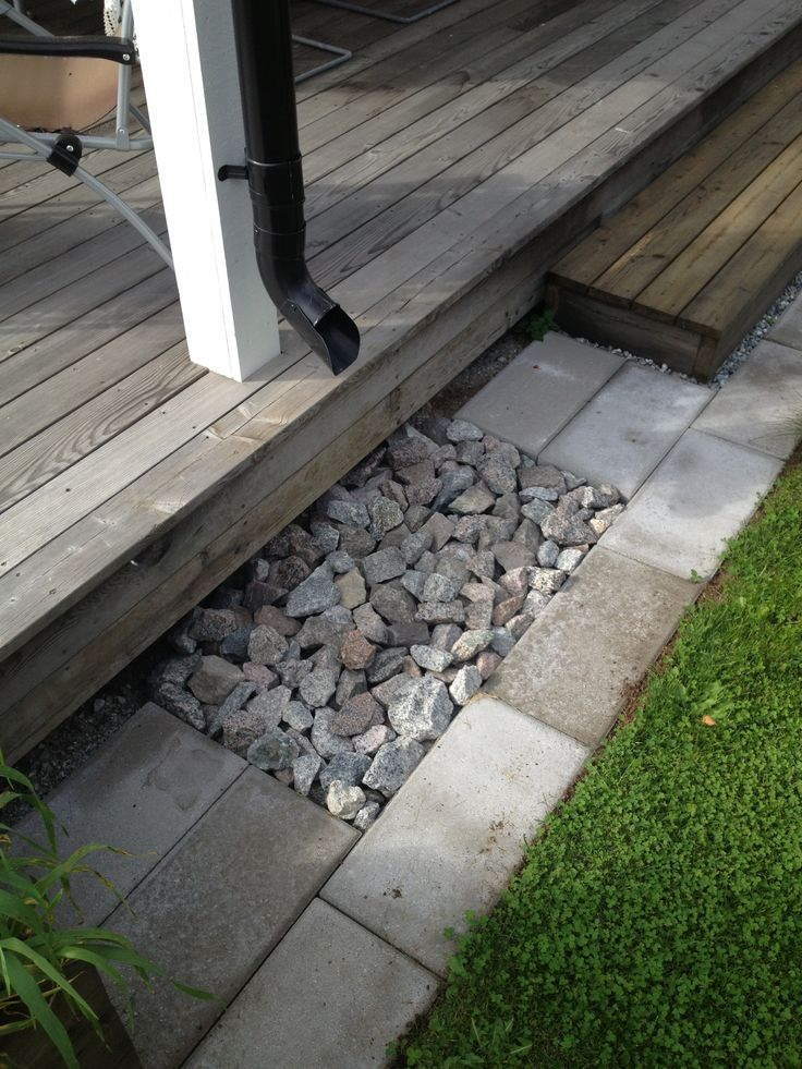 French drain with style.