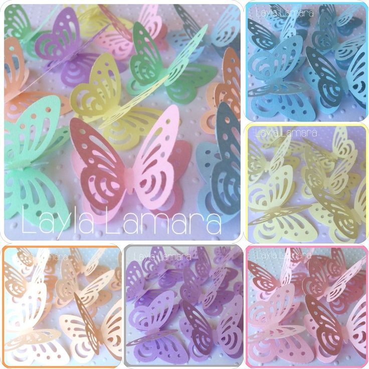 25 Pastel 3d Butterfly Wedding Confetti Table Decorations Toppers MORE COLOURS in Home, Furniture & DIY, Wedding Supplies, Confetti | eBay!