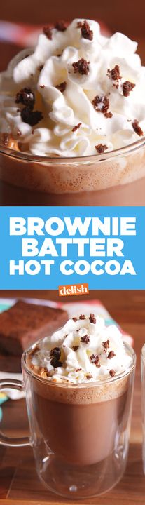 Once you try Brownie Batter Hot Cocoa, you'll never go back to the instant stuff. Get the recipe from Delish.com.