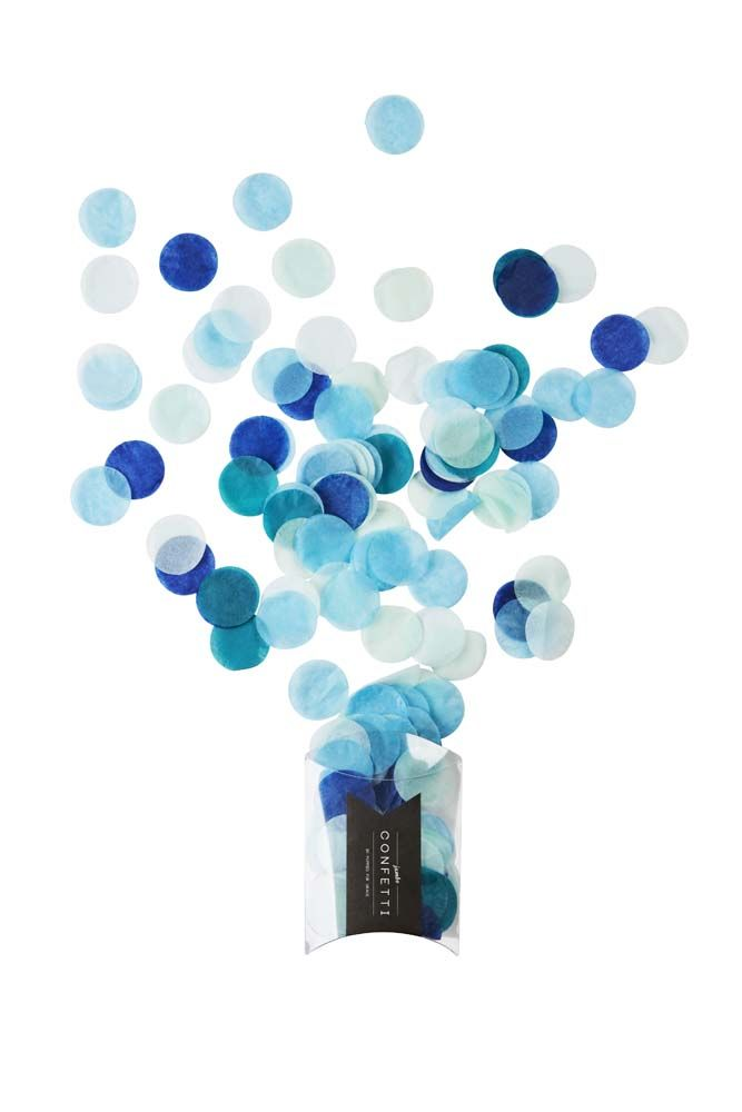 """""""Handsome"""" Jumbo Confetti! This gorgeous mix of confetti containing shades of blue! Perfect for for throwing, decorating & playing!     #poppiesforgrace #confetti #blue #jumbo #handsome #events #styling #designerkids #kidsstyle #partyshop #partysupplies #partyware #partydecor #bridalshower #babyshower #firstbirthday #frozen #christening #partytheme #partyideas #baby #kids #toddler #parenting #motherhood #mumboss #girlboss #littlebooteekau"""