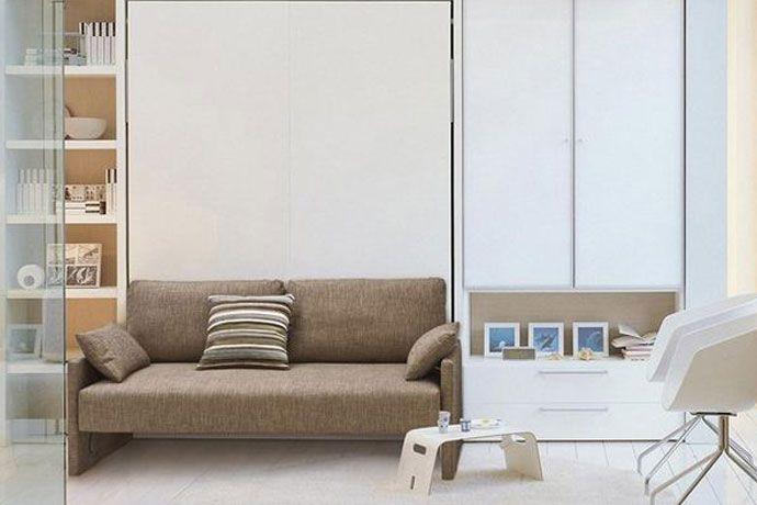 Mueble cama de matrimonio con sofá